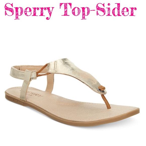 81ba9f13021d SPERRY TOP-SIDER Calla Jade Flat Thong Sandals. M 5a61982af9e501c62e129566